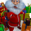 3d render of Santa Claus is content with gifts — Stock Photo