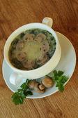 Sopa com cogumelos e salsa — Foto Stock