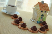 Café com doces — Fotografia Stock