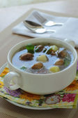Soup with champignons and potato — Stock Photo
