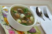 Suppe mit pilzen — Stockfoto