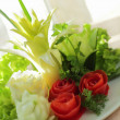 Stock Photo: Bouquet from tomato and onion