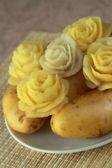 Květiny z brambor — Stock fotografie