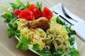 Macaronis with tomatoes — Stock Photo