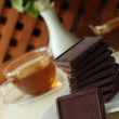 Chocolate дессерт to tea — Stock Photo