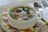 Soupe aux champignons — Photo