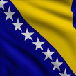 Stock Photo: Flag of Bosniand Herzegovina