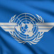 Flag of ICAO — Stock Photo