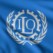 Stock Photo: Flag of ILO