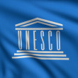 Flag of UNESCO — Stock Photo