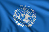 Flag of WMO — Stock Photo