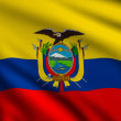 Stock Photo: Flag of Ecuador