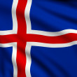 Flag of Iceland — Stock fotografie