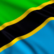 Stockfoto: Flag of Tanzania