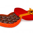 Stock Photo: Box with candies to day of Saint Valentin