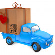 Small lorry with parcel — Stock Photo