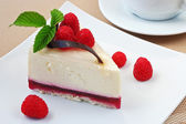 Pastry with a raspberry — Stock Photo