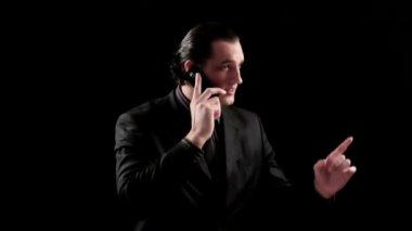 Business phone 3 — Vídeo stock