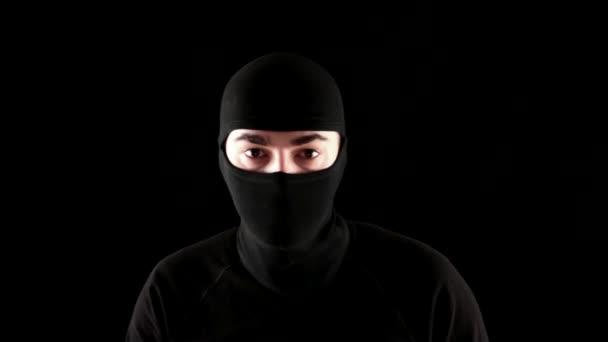 Ninja grozit — Vídeo de stock