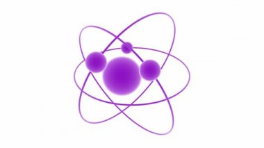 Atom 1 viol white — Stock Video
