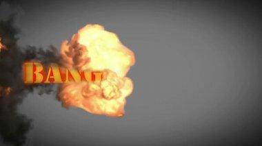 Bang explode — Stock Video