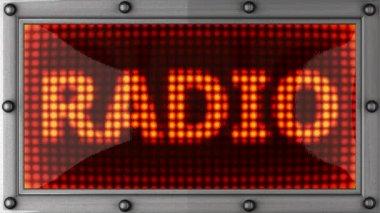 Tablo radio 2 r — Stock Video