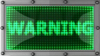 Tablo warning 2 — Stock Video