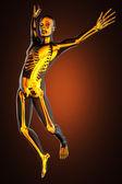 Jump man radiography — Stockfoto