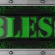 Bless on led — Stock Video