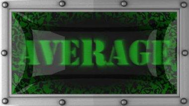 Average on led — Stock Video