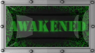 Awakened on led — Stockvideo