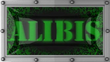Alibis on led — Stockvideo