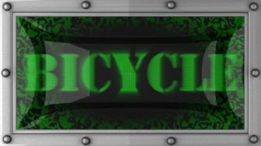 Bicycle on led — Stock Video