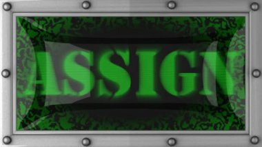 Assign on led — Stock Video