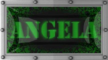 Angela on led — Stock Video