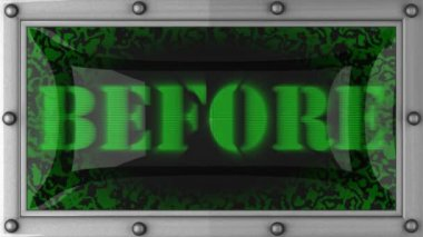 Before on led — Video Stock