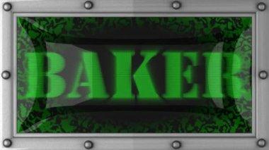 Baker on led — Stock Video