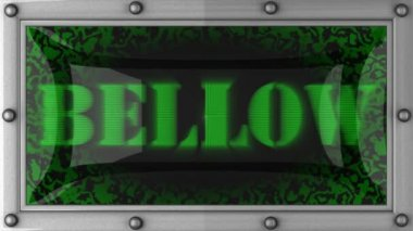 Bellow on led — Stock Video