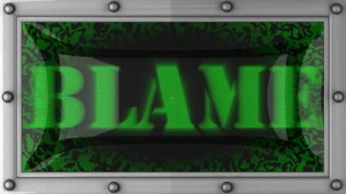 Blame on led — Stockvideo
