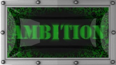 Ambition on led — Video Stock