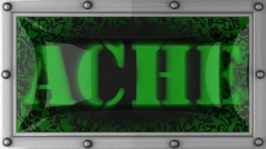 Ache on led — Stock Video