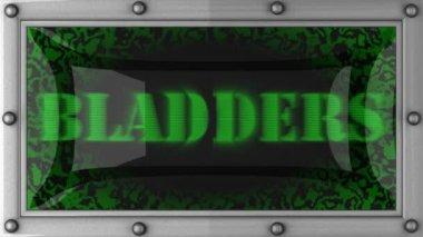 Bladders led — Stok video