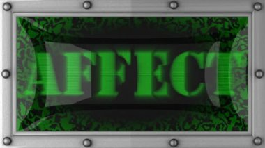 Affect on led — Stock Video