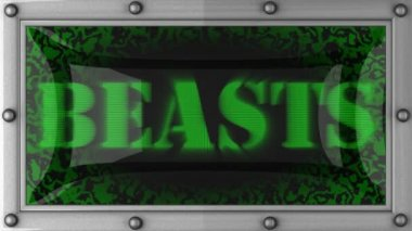Beasts on led — Vídeo de stock