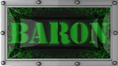Baron on led — Stock Video