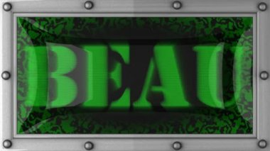 Beau on led — Stock Video