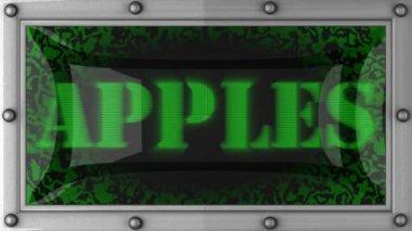 äpplen på ledde — Stockvideo