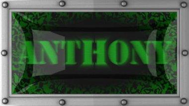 Anthony üzerinde yol açtı — Stok video