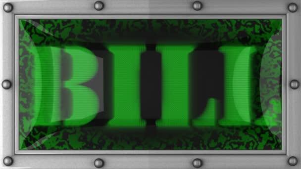Bill on led — Vidéo