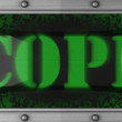 Cope on led - Stock Photo